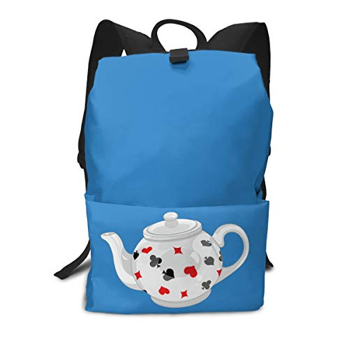 (Travel Backpack Business Daypack School Bag Poker Teapot Large Compartment College Computer Bag Casual Rucksack For Women Men Hiking Camping Outdoor)