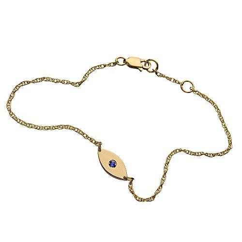 Jennifer Zeuner femme  18carats (750/1000)  Or jaune|#Gold Rond   Bleu Saphir FASHIONNECKLACEBRACELETANKLET