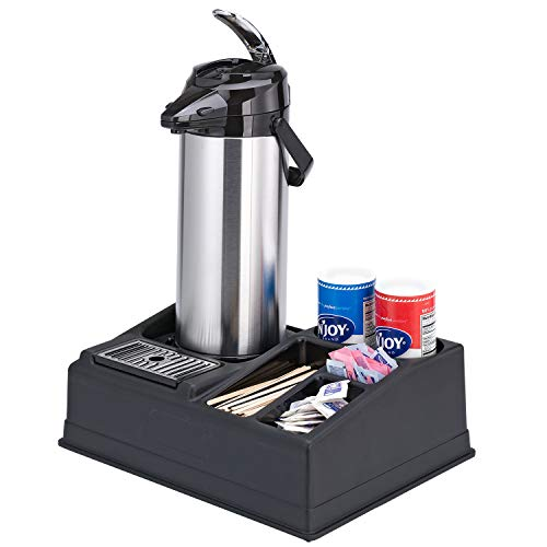 Service Ideas APR15BL Airpot Stand and Condiment Station, Holds 1 Airpot-5 Condiments, Black Plastic by Service Ideas (Image #3)
