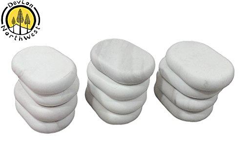 DevLon Northwest Massage Marble Stone Set Facial Massage Set Cold Stones Hot Therapy 12 PC