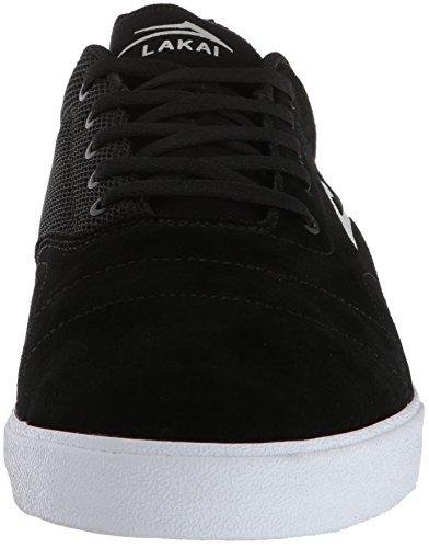 Lakai Limited Footwear Mens Bristol Nero / Bianco Pelle Scamosciata