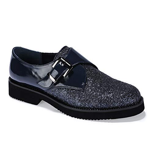 Shoes Women's IDIFU Black Oxford Buckle Fwt7PPqY
