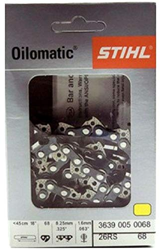 - Stihl Chainsaw Chain- 26RS68- 18 Inch, 68 Drive Links, .325 Pitch, .063 Gauge