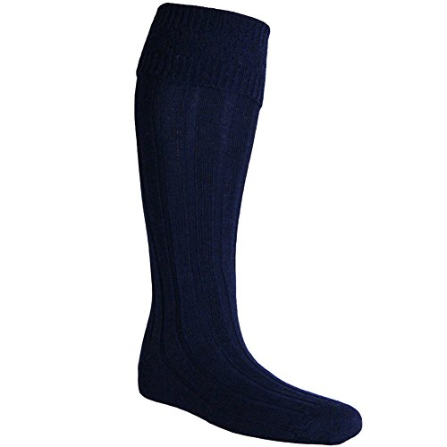 Navy Blue Kilt - USA Kilts Men's Kilt Hose Large Navy Blue