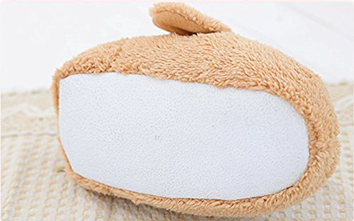 LaiXin Slippers, Winter Warm Slippers Unicorn Soft Slippers For Women Men Children Novelty Anti-Slip Breathable Durable Plush Slippers Size EU 35-42 - White Dog 02