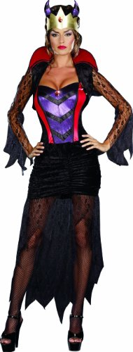 Evil Queen Sexy Costumes - Dreamgirl Women's Wicked Queen Dress, Black/red,