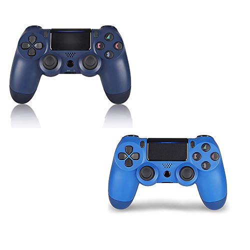 2 Pack PS4 Wireless Controller - DualShock 4 Remote for Sony Playstation 4(Wave Blue+Midnight Blue) ()
