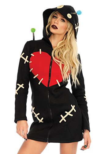Leg Avenue Women's Cozy Voodoo Doll Costume, Black Large]()