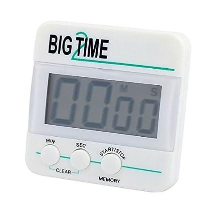 Temporizador de cocina eDealMax digital dígitos grandes fuerte alarma Soporte magnético y soporte retráctil