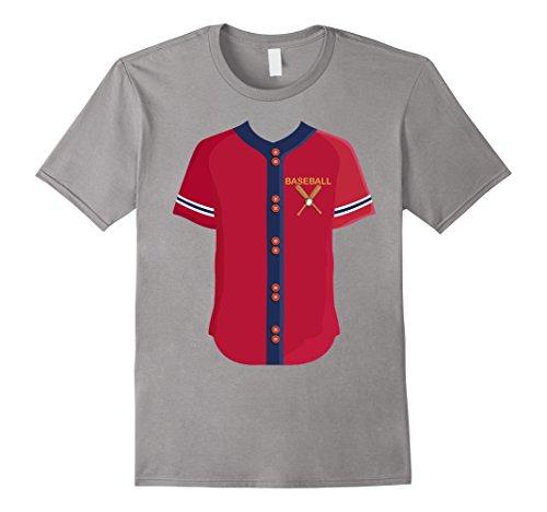 Mens Easy Baseball Halloween Costume Shirt Gift - Funny Costume 2XL Slate
