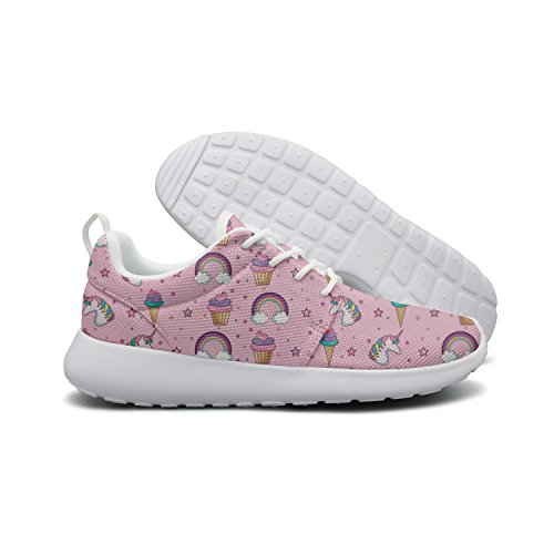 Athletic Pink ERSER Cream Women Ice Running Unicorn Star Kawaii Shoes Rainbow q0wS0Ad