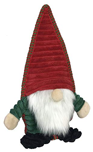 Petlou Holiday Plush GNOME Pet Toys for Dogs and Cats with Multi-Squeak and Crinkle in Different Size