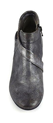CAF NOIR FC206 carbón grises zapatos botas de casquillo postal talón de la mujer 277 ANTRACITE