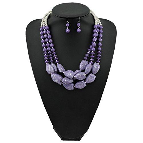 Multi Bead Necklace Set - 8