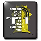 3dRose Amar Singha Art - Quotation - An Inspiring Quotation For The Meditation - Light Switch Covers - double toggle switch (lsp_289492_2)
