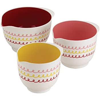 "Cake Boss Countertop Accessories 3-Piece Melamine Mixing Bowl Set, ""Icing"""
