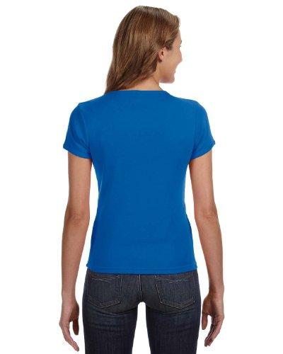 Anvil–�?441–Camisa de manga corta 1x 1RIB cuello redondo T–shirt azul real