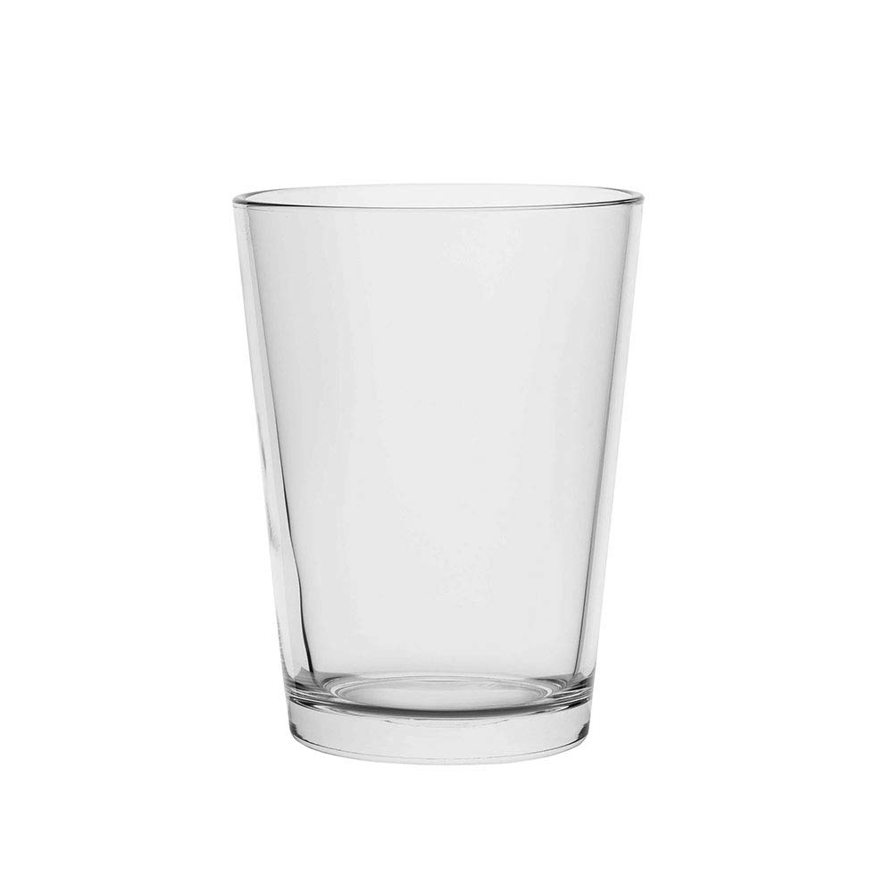 AmazonCommercial Wide Cylinder Glass Flower Vase for Décor - Set of 2, Clear, 66.3 oz