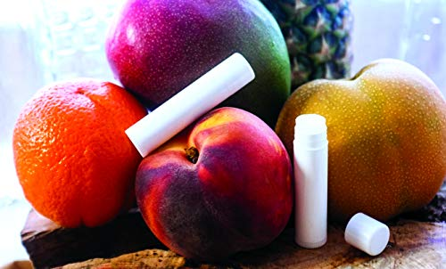 Grow and Make DIY Exotic Flavors Lip Balm Kit – Make Your Own Pineapple Tangerine, Mango Peach, Cr me de Menthe and Asian Pear Lip Balm Tubes at Home