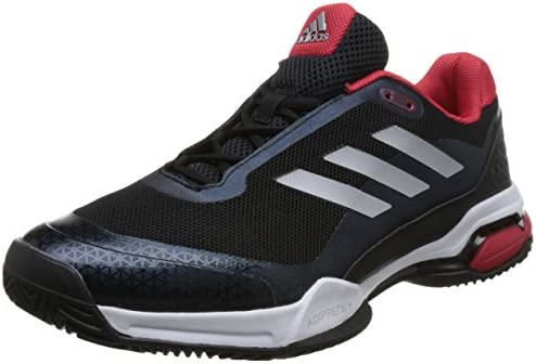 Adidas Mens Barricade Club Tennis Shoes RedWhiteBlack