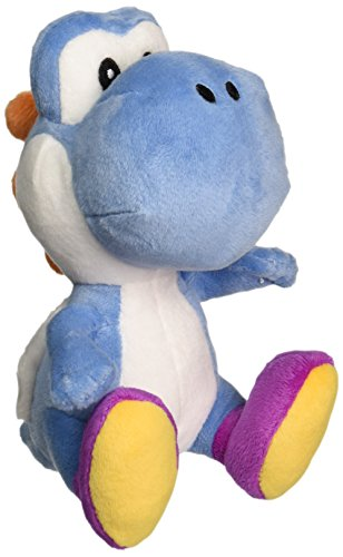 Mario Bros Yoshi - Little Buddy Super Mario Bros Dark Blue Yoshi Stuffed Plush, 6