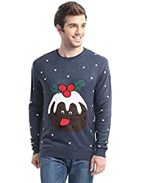 Daisyboutique Men's Christmas Desserts Puddings Sweater Cute Ugly Pullover