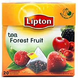Lipton Black Tea - Forest Fruit - Premium Pyramid Tea Bags (20 Count Box) [Pack of 3] Imported 6