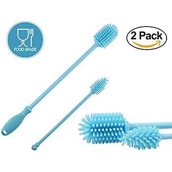 Amazon Com Silicone Bottle Cleaner Brush Set Blue