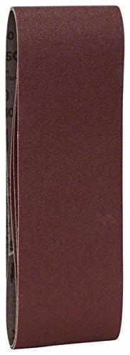 Bosch 2609256212 Bandes abrasives pour Ponceuses /Ã/ bande Qualit/Ã/© rouge 75 x 508 Grain 80 Lot de 3 feuilles