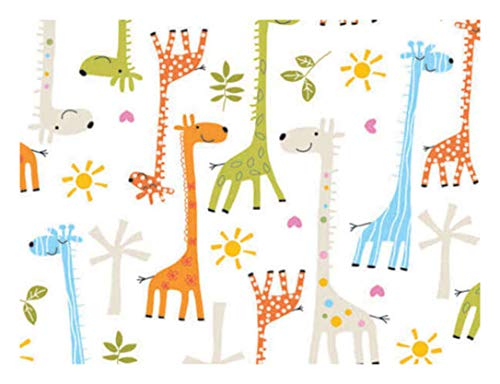 (Whimsical Baby Giraffe Gift Wrap Paper Boy or Girl - 15 Foot Roll)