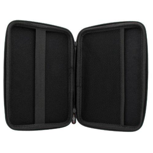 XiRRiX Hartschalentasche mit Nylon Oberfläche Tasche Schutzhülle für Navi Größe 7 Zoll (17,78cm) -- Blaupunkt Travelpilot 70T (Truck) LMU Navigationssystem (17,5cm (7.0 Zoll) -- 399270