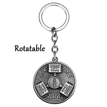 Amazon.com : The Avengers 4 Key Ring Thor Hammer Rotatable ...