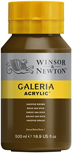 Winsor & Newton 500ml Bottle Galeria Acrylic Colour with Nozzle Cap - Van Dyke Brown from Winsor & Newton