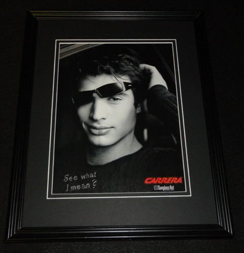 2000 Carrera Sunglass Hut 11x14 Framed ORIGINAL Vintage - Sunglass City Hut