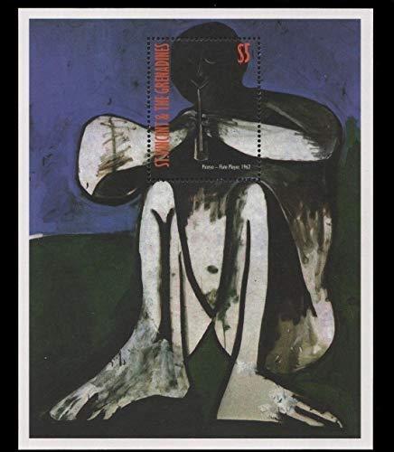 - Pablo Picasso - Famous Artist - Cubism - Flute Player - Beautiful Collectors Stamps - St. Vincent