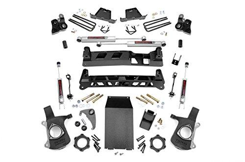 Rough Country - 25820-4-inch Non-Torsion Drop Suspension Lift Kit w/Premium N3 Shocks for Chevrolet: 99-06 Silverado 1500 4WD; GMC: 99-06 Sierra 1500 (Non Torsion Drop)