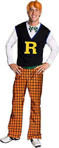 [Archie Comics Costume, Blue/Orange, One Size] (Betty Archie Comics Halloween Costume)