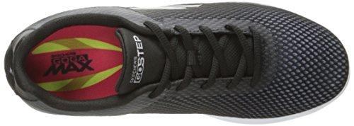 Skechers Performance Donna Andare Passo Lite-agile Walking Shoe Nero / Bianco Ombre