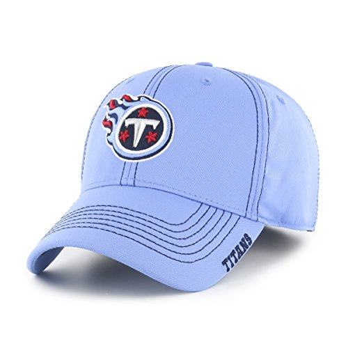 Titans Knit Tennessee Cap - NFL Tennessee Titans Adult Start Line Ots Center Stretch Fit Hat, Large/X-Large, Periwinkle