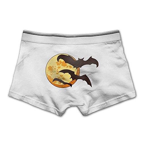Anyaoqx Halloween Bats Men's Underwear Soft Cotton Stretch Boxer Briefs M White ()
