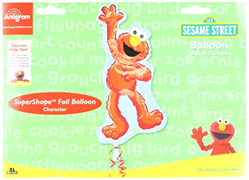 Anagram 17848 Elmo Waving Shape Supershape Foil Balloon, 38