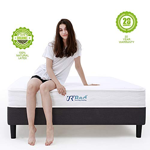 Sunrising Bedding 8 inch Natural Latex Queen Mattress & Independently Encased Coil Innerspring Hybrid Mattresses Queen Size - Not Sagging and Sink - 120 Day Free Return - 20 Years Warranty ()