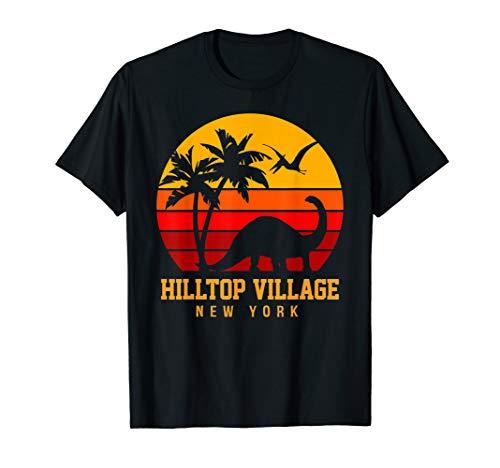 Hilltop Village Vintage Sunset Dinosaur Beach Funny T-Shirt