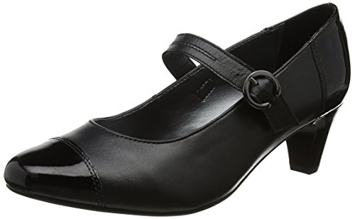 Women's black Closed Padders Combi Toe Heels Noir Jean qd8xafxwO
