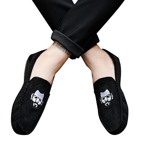 Negro De De Verano Semilla ALIKEEYEstilo Es Casual Comodo Conducir De Barbudos Y Hombres Zapatos Z8xqHOA8