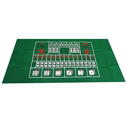 Jili Online Casino Felt Layout Poker Table Top Cloth Green for Home Party Casino Poker Dice Games by Jili Online