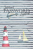 Internet Password Logbook: Record Keeper To Protect Your Internet Username And Passwords With Tabs:  Nautical Lighthouse Cover Design