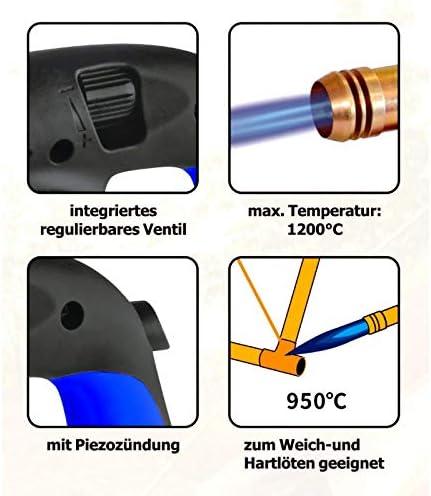Bunsenbrenner L/ötbrenner Gasbrenner L/ötlampe Piezo-Z/ündung