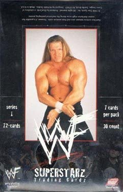 1998WWF Superstarz Factory Sealed Tradingカードボックス( 30pks )