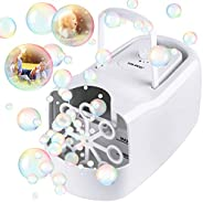 TOLOCO Bubble Machine,Automatic Bubble Blower Portable Bubble Maker for Kids,3000 Bubbles Per Minute,Plug-in o